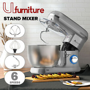 Kitchen Cake Stand Mixer Food Dough Electric Mixing Machine w/Bowl/Whisk/Beater