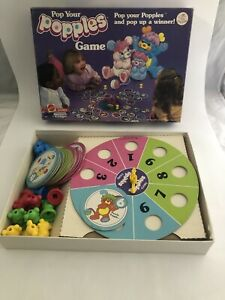 Popples Board Game Pop Your Popples Complete Game 1986