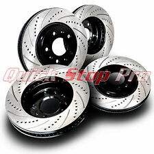 FRONT POWER PERFORMANCE DRILLED SLOTTED PLATED BRAKE DISC ROTORS P31554