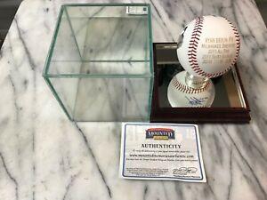 Ryan Braun SIGNED MLB Baseball 2011 All Star NL MVP Brewers Mounted Memories COA
