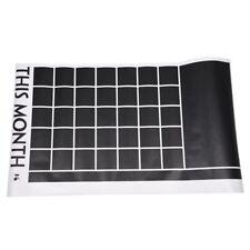 5x DIY Monthly Chalkboard Calendar Planner Vinyl Wall Stickers 60*92cm L3