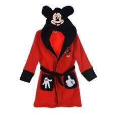 Fleece Dressing Gown 2-3 Years Disney Mickey Mouse Night Lounge Wear Red