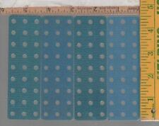 4 PIECES 1960s ERECTOR parts #ME BLUE PLASTIC PLATES 3 HOLE X 9 HOLE