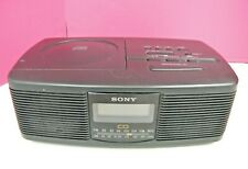 Sony Cd Clock Radio Icf-Cd810 Black with Instructions Tested & Working