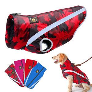 Cappottino Impermeabile Per Cani Riflettente Inverno Giacca Gilet Cane in Pile