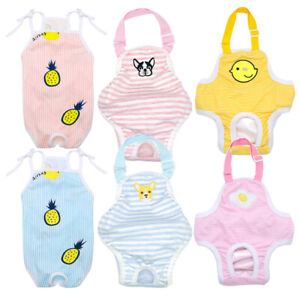 Dog Cat Diaper Female Girl Sanitary Pants Suspenders Stay On for Small Pet S-XL