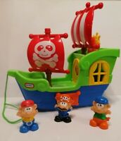 LITTLE TIKES PULL ALONG PIRATE SHIP WITH LIGHTS AND SOUNDS - WORKING
