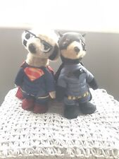 Superman & Batman Meerkat / Meercat Toys Plus One Other  New But No Boxes