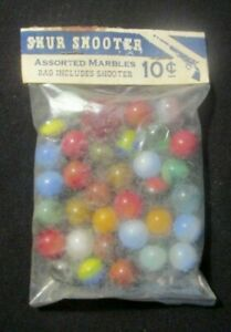 SHUR SHOOTER Marbles in Original Pack  Jabo Marbles MADE IN USA