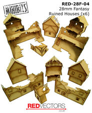 RED-28F-04 - 28mm Wargames - Fantasy Ruins x 6 (for Mordheim / Frostgrave)