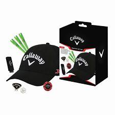CALLAWAY GOLF GIFT SET INC GOLF CAP METAL CAP CLIP & BALL MARKER TEES 2IN1 BRUSH