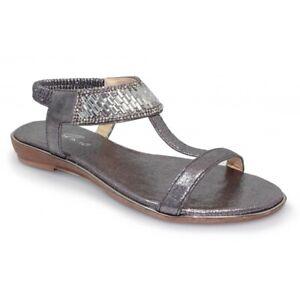 Lunar Donatella JLH101 Gemstone Pewter Ladies Sandal