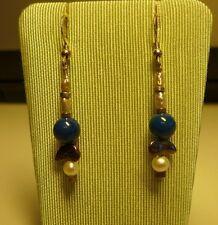 Ohrhänger 925/- Silber mit Perlen und Sodalith,Neuware