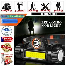 POWERFUL RECHARGEABLE 8W LED COB HEADBAND LIGHT HEADLAMP TORCH SPOT FLOODLIGHT