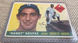 1955 Topps Sandy Koufax RC Rookie Card #123 Brooklyn Dodgers Hall Of Fame