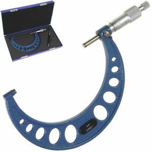 "4-5"" Outside MICROMETER Premium Professional Precision Carbide Tips Machinist"