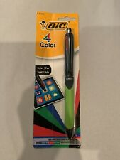 BIC 4-Color Grip Ballpoint Pen with Stylus, Medium Point (1.0mm), Assorted Inks,