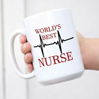 Funny Nurse Coffee Mug World's Best Novelty Cup Gift Idea For Nurse Mug