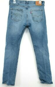 Levis Mens Original 501 0193 Stone Wash Button Fly Straight Denim Jeans 33 x 34