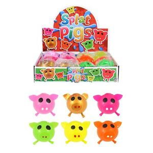 Sticky Pig Splat Ball Squishy Squeeze Stress Relief Toys