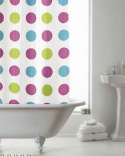 Tende da doccia multicolore con anelli in plastica