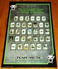 "NEW 37"" x 25"" TEAM ARCTIC CAT SNOWMOBILE RACE DRIVERS DOMINATE DEALER POSTER!"