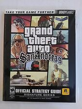 GRAND THEFT AUTO   SAN ANDREAS  OFFICIAL STRATEGY GUIDE PAPERBACK BOOK
