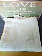Maxi grand lange blanc étoiles grises 120 cm / 120 cm Aden et Anais TBE