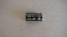 TONEREX 220UF 50V 85C Trimmed Leads Capacitor New Lot Quantity-60
