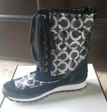 Women's Coach Dorean Op Art Signature Winter Boots New Size 8.5