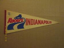 WHA Indianapolis Racers Vintage Defunct Circa 1970's Logo Hockey Pennant