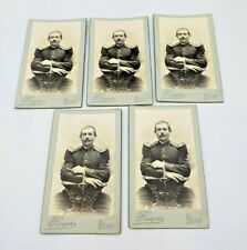 More details for 5x original cdv photographs of a french soldier in uniform - caen photographer