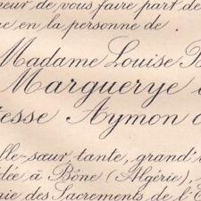 Louise Bathilde De Marguerye De Vassy Aymon De Virieu Bône Algerie 1887