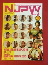 NJPW New Japan Cup 2015 Official Program Japan Pro Wrestling issues