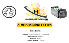 12 HOURS Litecoin Mining Rental / Contract Lease- 550MH/s ANTMINER L3+ ASIC LTC