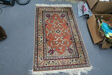 Antique Hand Knotted Silk Hereke Keisari Turkish Prayer  Oriental Rug 2'9 x 4'6