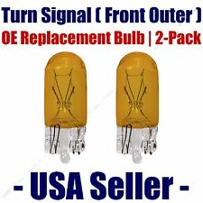 Front Outer Turn Signal Light Bulb 2pk - Fits Listed Porsche Vehicles - 2827