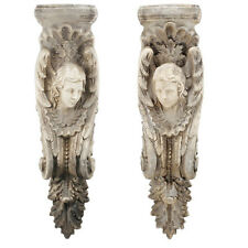 "Athenas Wall Sculpture Decor 11x6x40"" Set Of 2 - 75751"