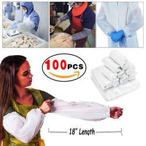 Disposable Tattoo Arm Barrier Sleeves 100 PCS Plastic Arm Sleeves Oversleeves