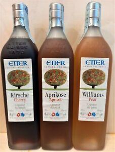 ETTER Distillato Di Frutta Svizzera tris kirsch-aprikose-williams lt 0,35x3
