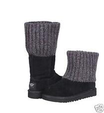 UGG Australia Girls Shea Size 11 Youth Knit Cuff Classic  Black Boots