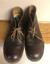 Clarks Originals Mens Desert Boots Size 9.5 M Brown Leather Boots