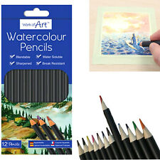 12*Watercolour Pencils Work of Art Long lasting/Blend able Drawing Sketch Pencil