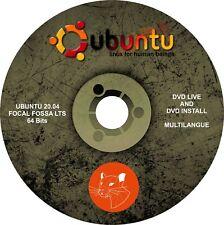 "DVD Linux Ubuntu 20.04 "" Focal Fossa LTS "" 64 Bit, multilingual, Live, Bootable"