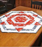 Northern Star: Hexagon Table Topper Quilt Pattern