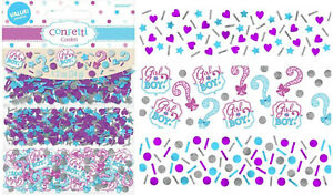 Gender Reveal Confetti Baby Shower Table Scatter Decorations Girl or Boy