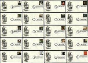 #3236a-t 32c 4 Centuries of American Art, Art Craft H/C FDC ANY 5=
