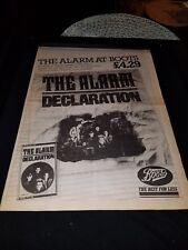 The Alarm Declaration Rare Original Uk Promo Poster Ad Framed!
