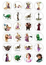 24 Rapunzel Tangled Wafer / Rice Paper Cupcake Topper Edible Fairy Cake Tops