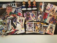 90 assorted St. Louis Blues Cards, Magazines, Figures - Brett Hull, Pronger, etc